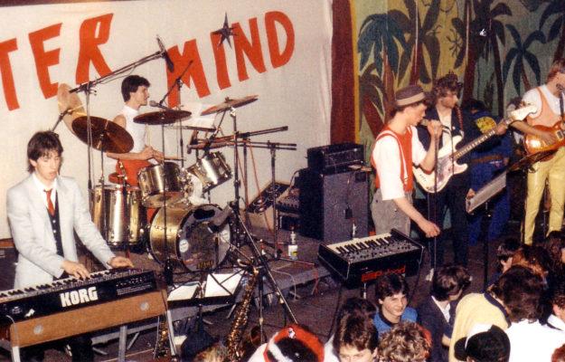 Die Rockband Master Mind im Friedrich-List-Gymnasium in Gemünden